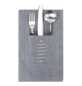 S/2 In This Home Pocket Napkin