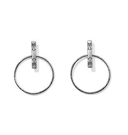 Brighton Marrakesh Soleil Post Hoop Earrings - Silver