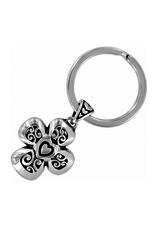 Brighton Divinity Cross Key Fob - Silver