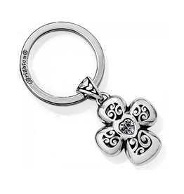 Brighton Divinity Cross Key Fob - Silver
