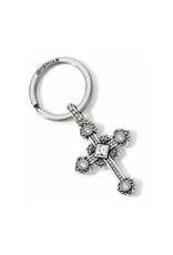 Brighton Alcazar Cross Key Fob - Silver