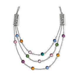 Brighton Elora Gems Multi Layer Necklace Silver-Multi