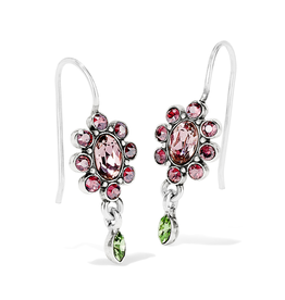 Brighton Trust Your Journey Garden French Wire Earrings - Silver & Pink Multi