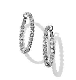 Brighton Twinkle Splendor Medium Hoop Earrings - Silver