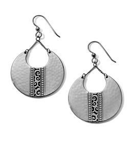 Brighton Mingle Disc Large French Wire Earrings Silver