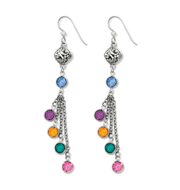 Brighton Elora Gems French Wire Earrings Silver-Multi