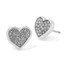 Brighton Eden Hearts Mini Post Earrings - Silver