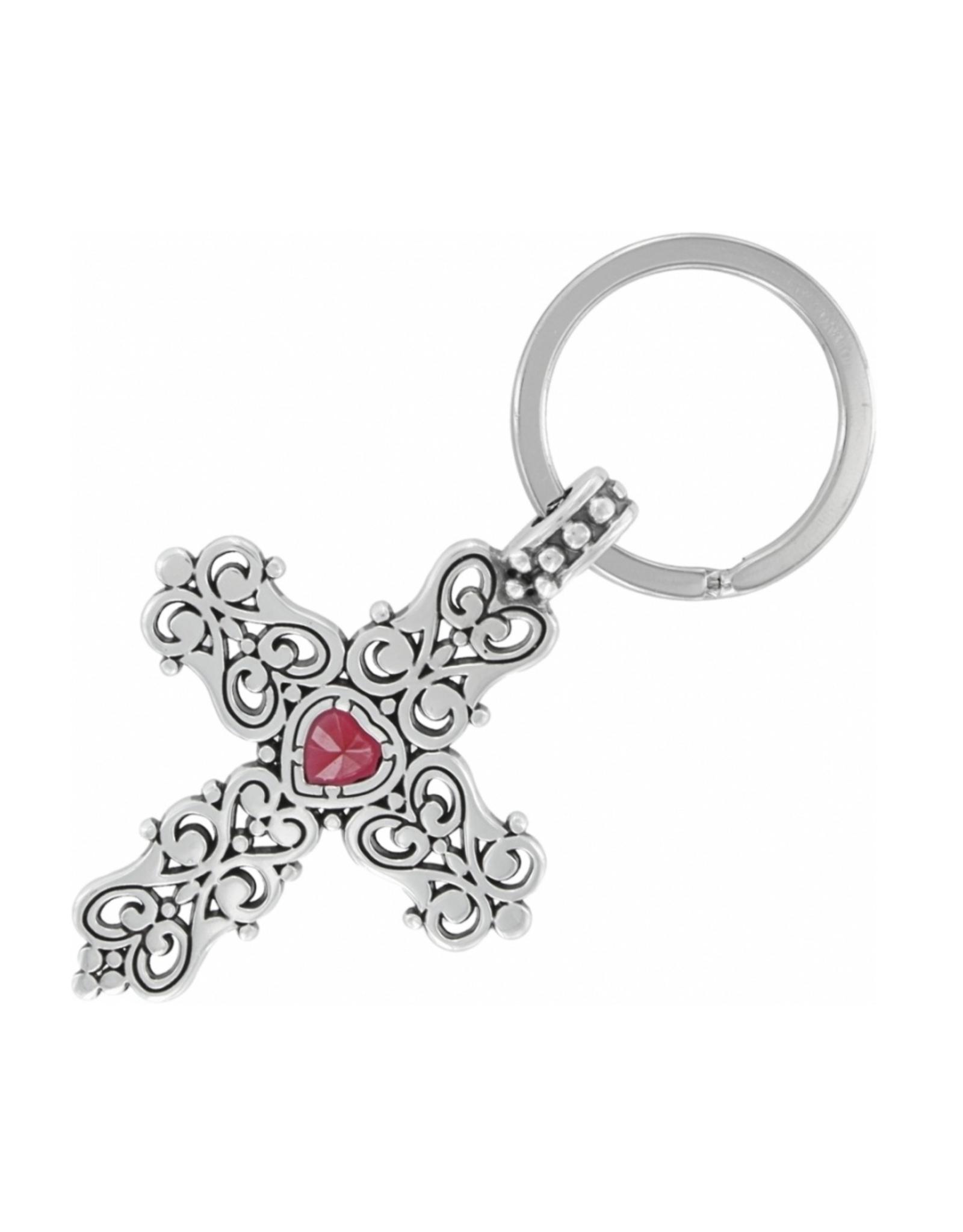 Brighton Endless Love Key Fob - Silver & Red