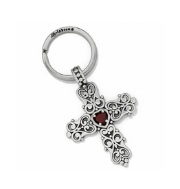 Brighton Endless Love Key Fob - Silver & Red