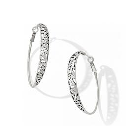 Brighton Elora Hoop Leverback Earrings - Silver