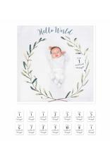 Baby's First Year Blanket Hello World