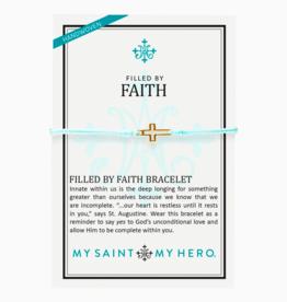 my saint my hero Filled By Faith Bracelet - Gold/Mint