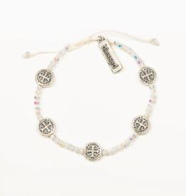 my saint my hero Gratitude Crystal Bracelet - Silver/Crystal