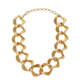 Diamond Link Chain Necklace - Gold