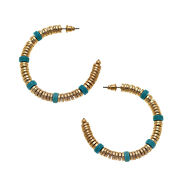 Luca Hoop Turquoise & Worn Gold