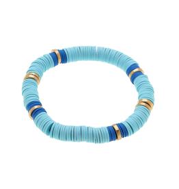 Emberly Aqua Polymer Bracelet