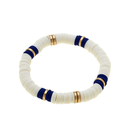Emberly White Polymer Bracelet