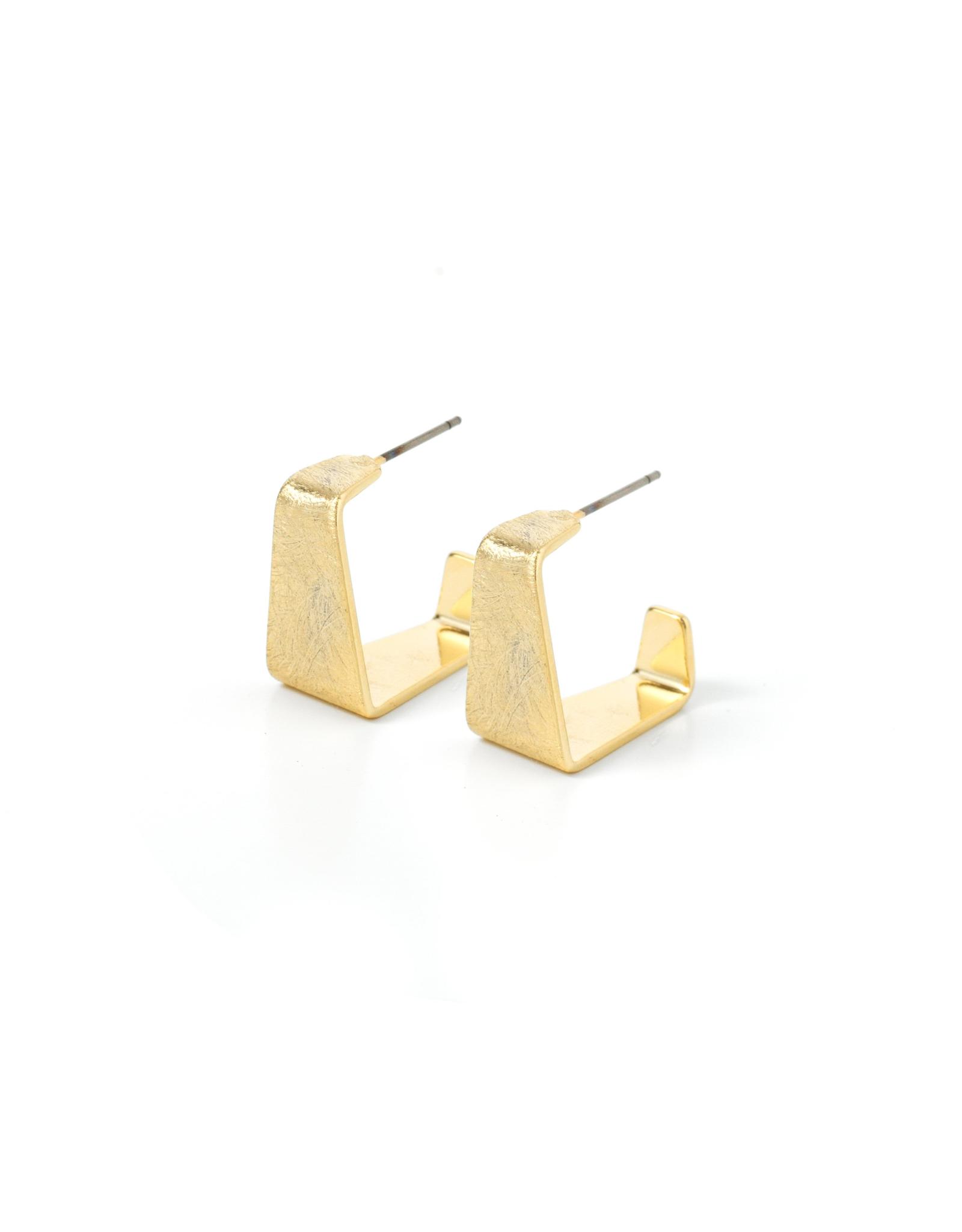 Splendid Iris Gold Wide Hoop Earrings