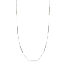 Splendid Iris Silver Multi Bar Necklace