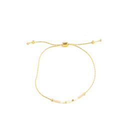 Splendid Iris Peach Pull Bracelet -Gold Chain