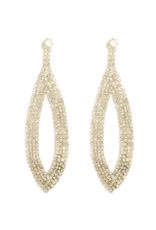 Splendid Iris Clear Crystal Long Open Earrings
