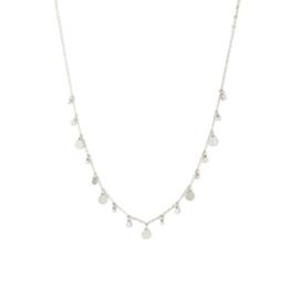 Splendid Iris Silver Multi Small Circle Necklace