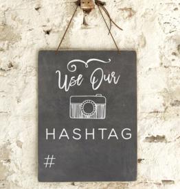 Use Our Hashtag Slate Board