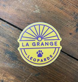 La Grange Leopard Paw Sticker