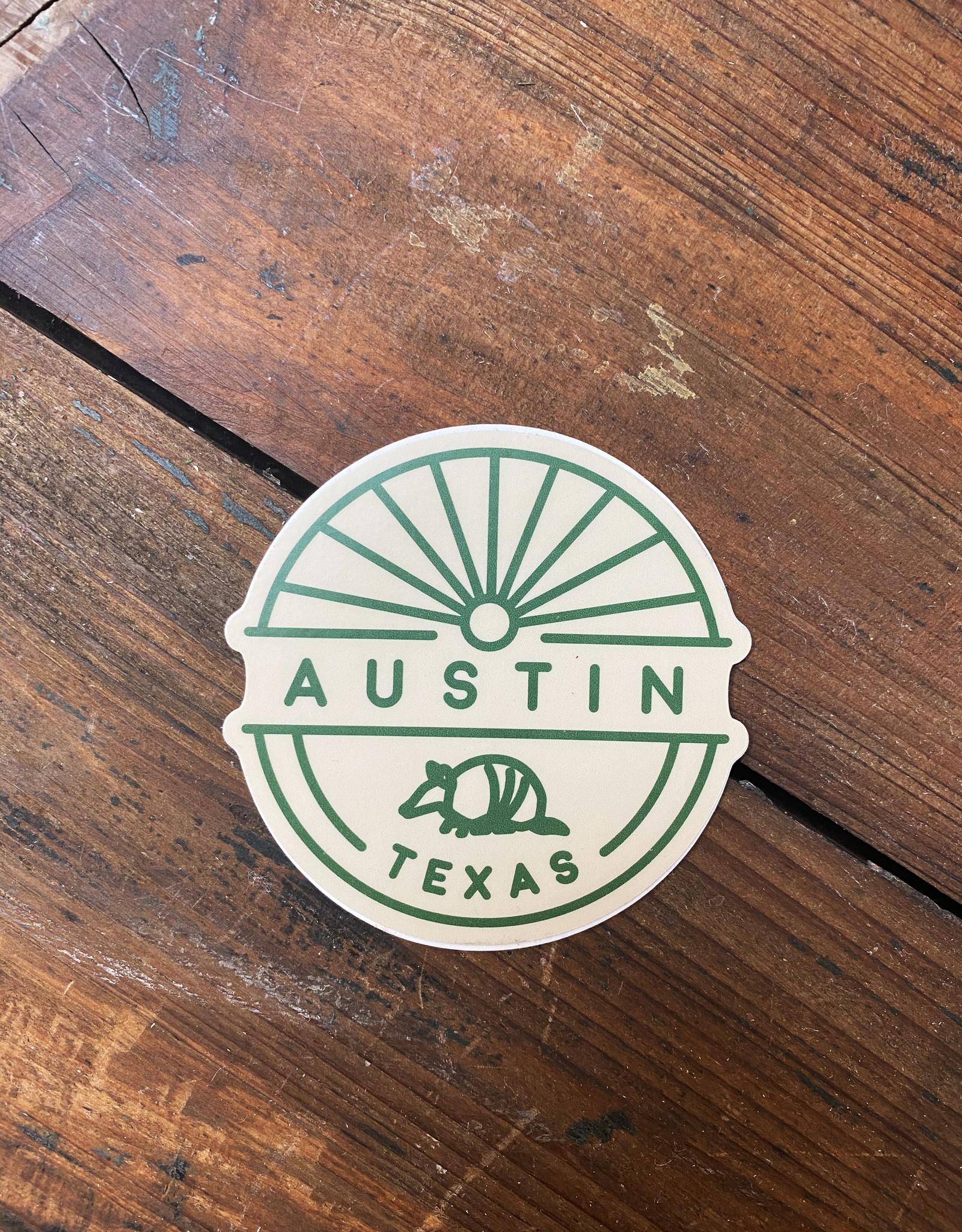 Austin TX Armadillo Sticker