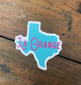 TX Shape La Grange Sticker