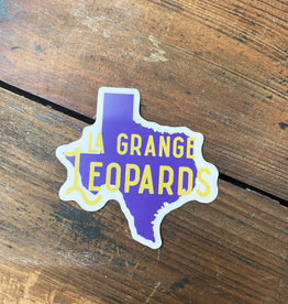 TX Shape La Grange Leopards Sticker