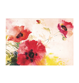 Peter Pauper Press Boxed Note Cards - Watercolor Poppies