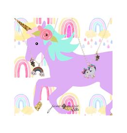 BFF Rainbow & Unicorn Charm Necklace