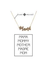 """16"""" Cursive Mama Necklace"""