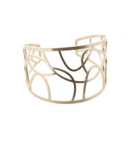 Gold Abstract Cuff