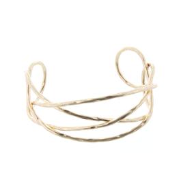 Gold X Line Cuff