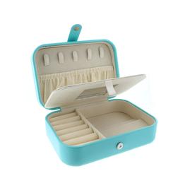 Dark Mint Leather Jewelry Box