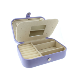 Purple Leather Jewelry Box