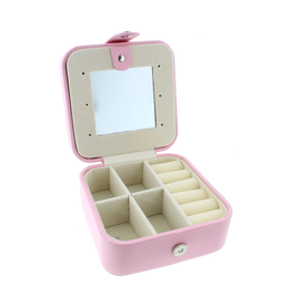 Light Pink Leather Jewelry Box