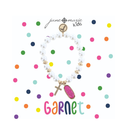 Kids Pearl Birthstone Bracelet (12 Styles)