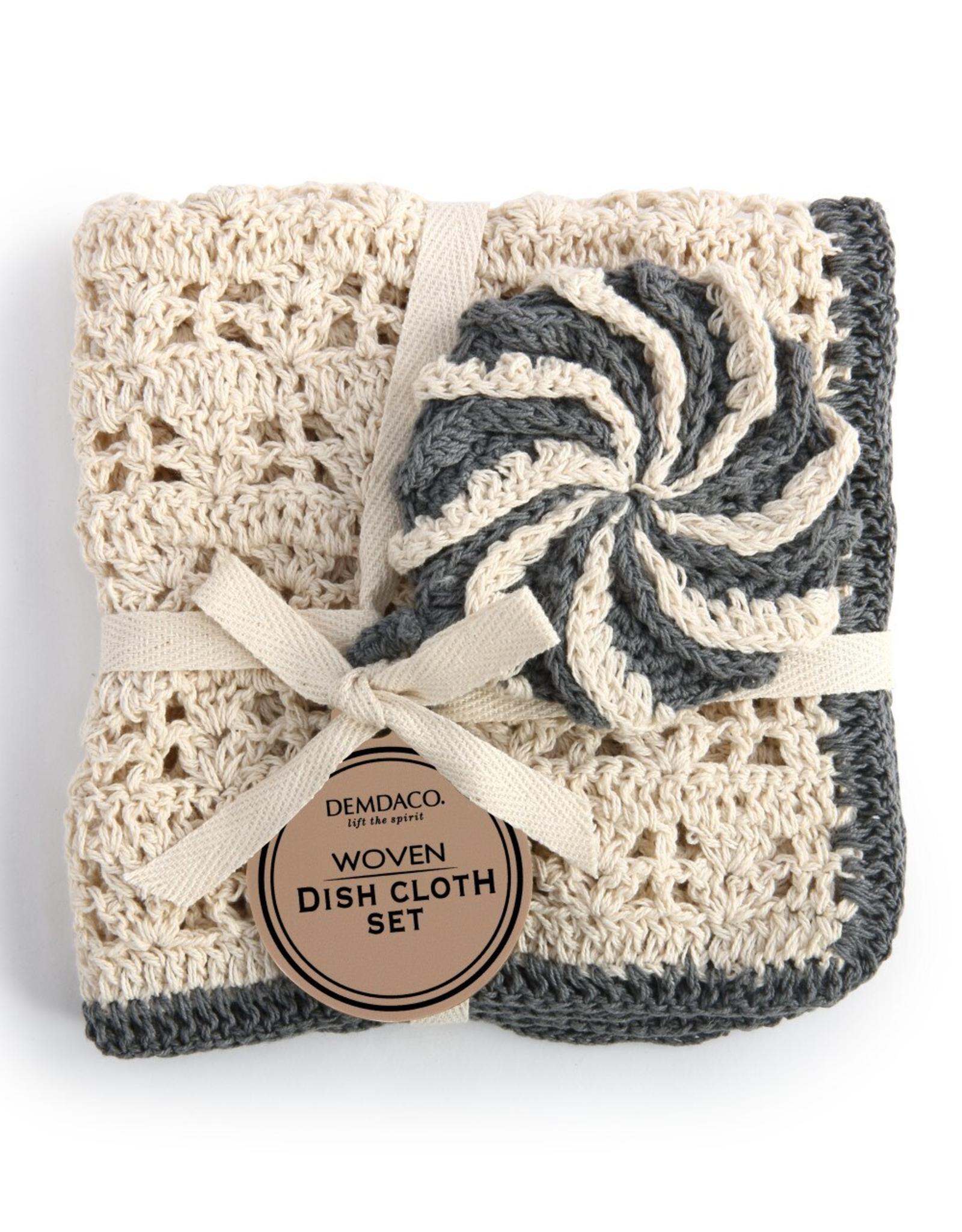Black Woven Dish Cloth Set