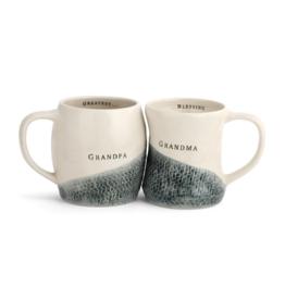 S/2 Grandma & Grandpa Hug Mugs