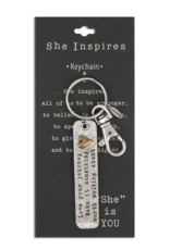 She Inspires Key Ring - Love The Journey