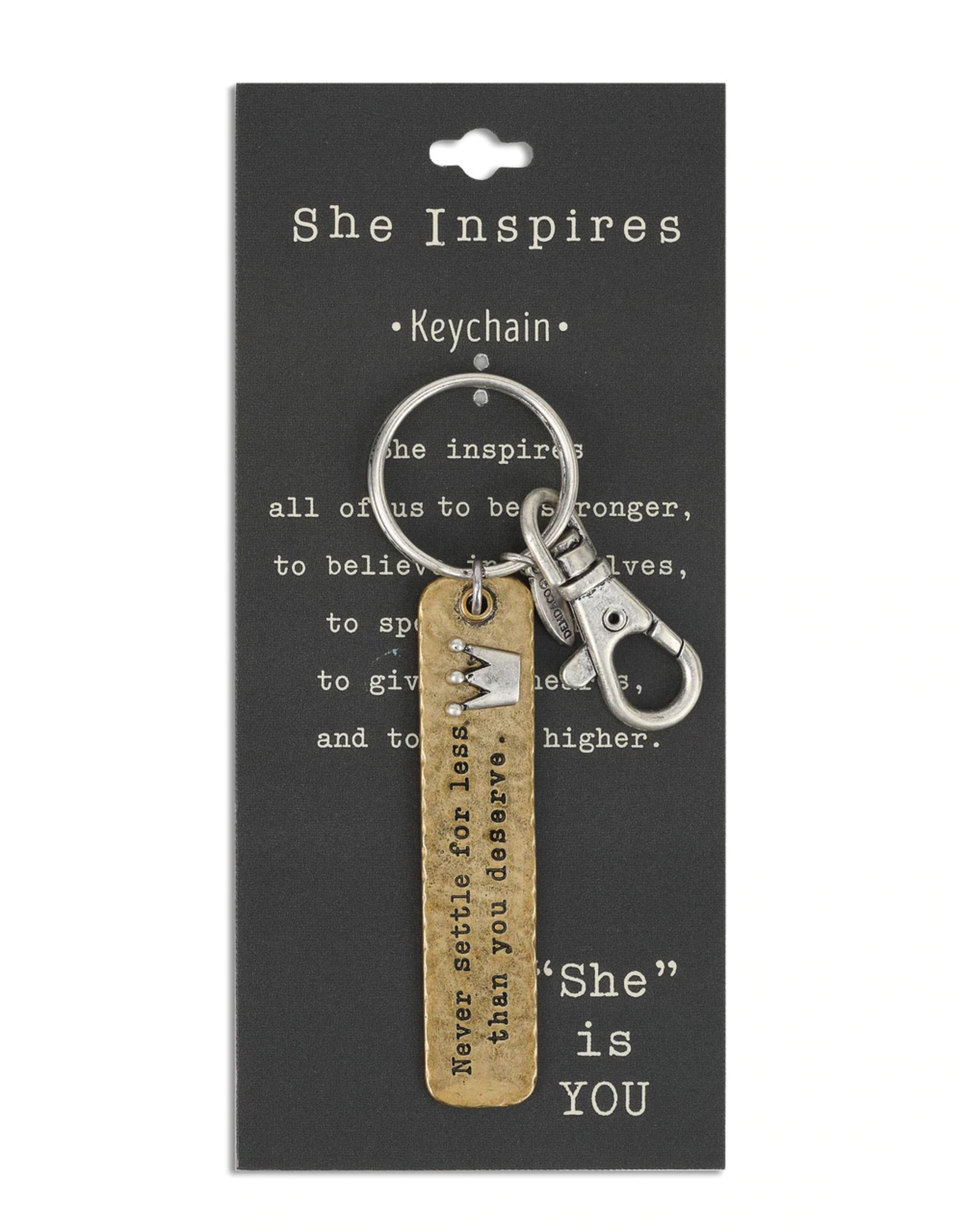 She Inspires Key Ring - Never Settle