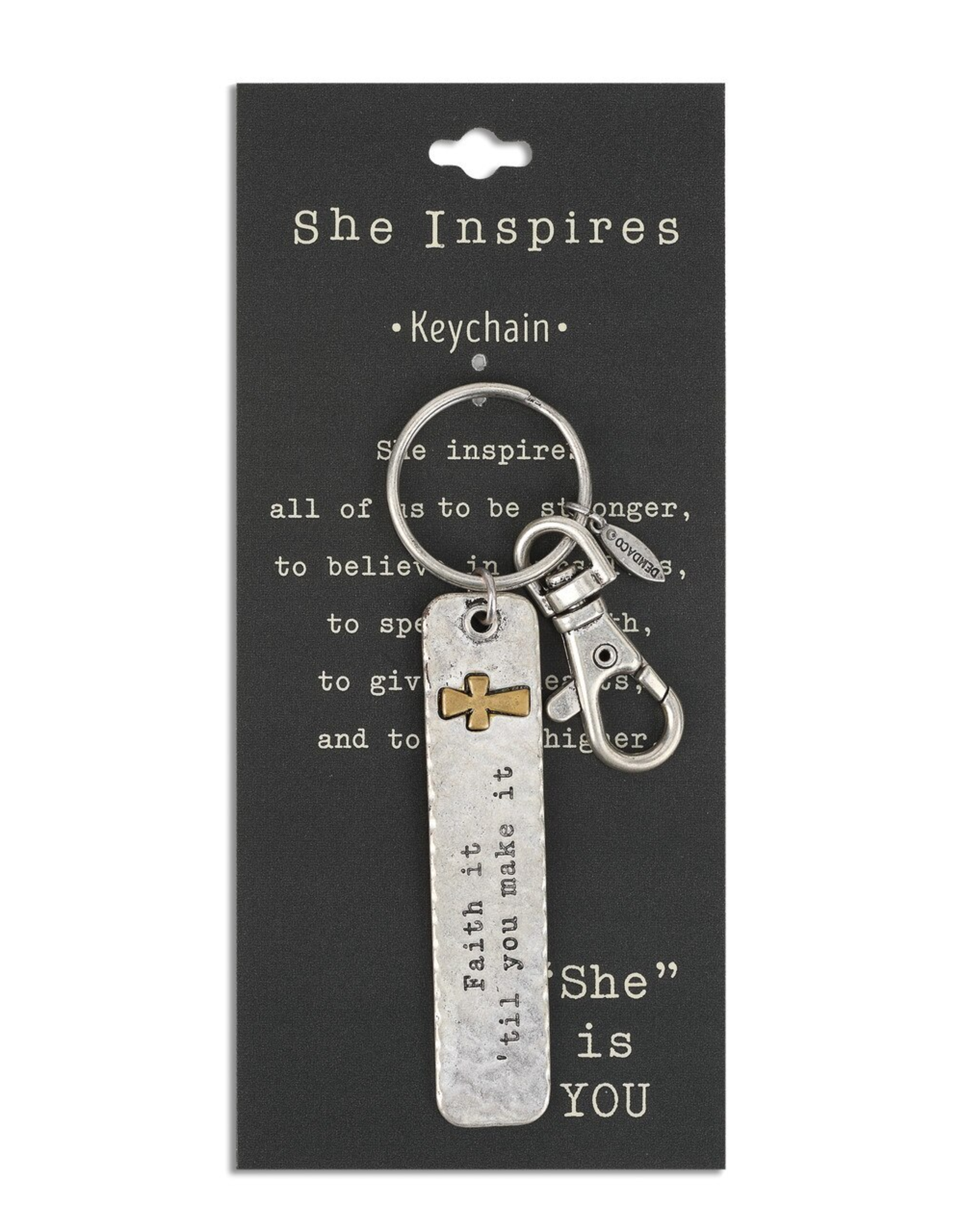 She Inspires Key Ring - Faith It