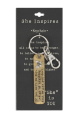 She Inspires Key Ring - Fly