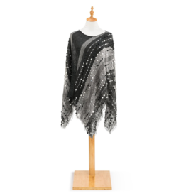 Textured Poncho - Black