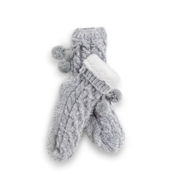 Chenille Slipper Socks - Gray