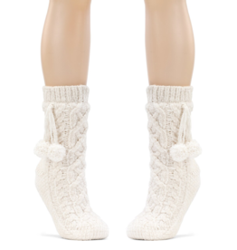 Chenille Slipper Socks - Cream