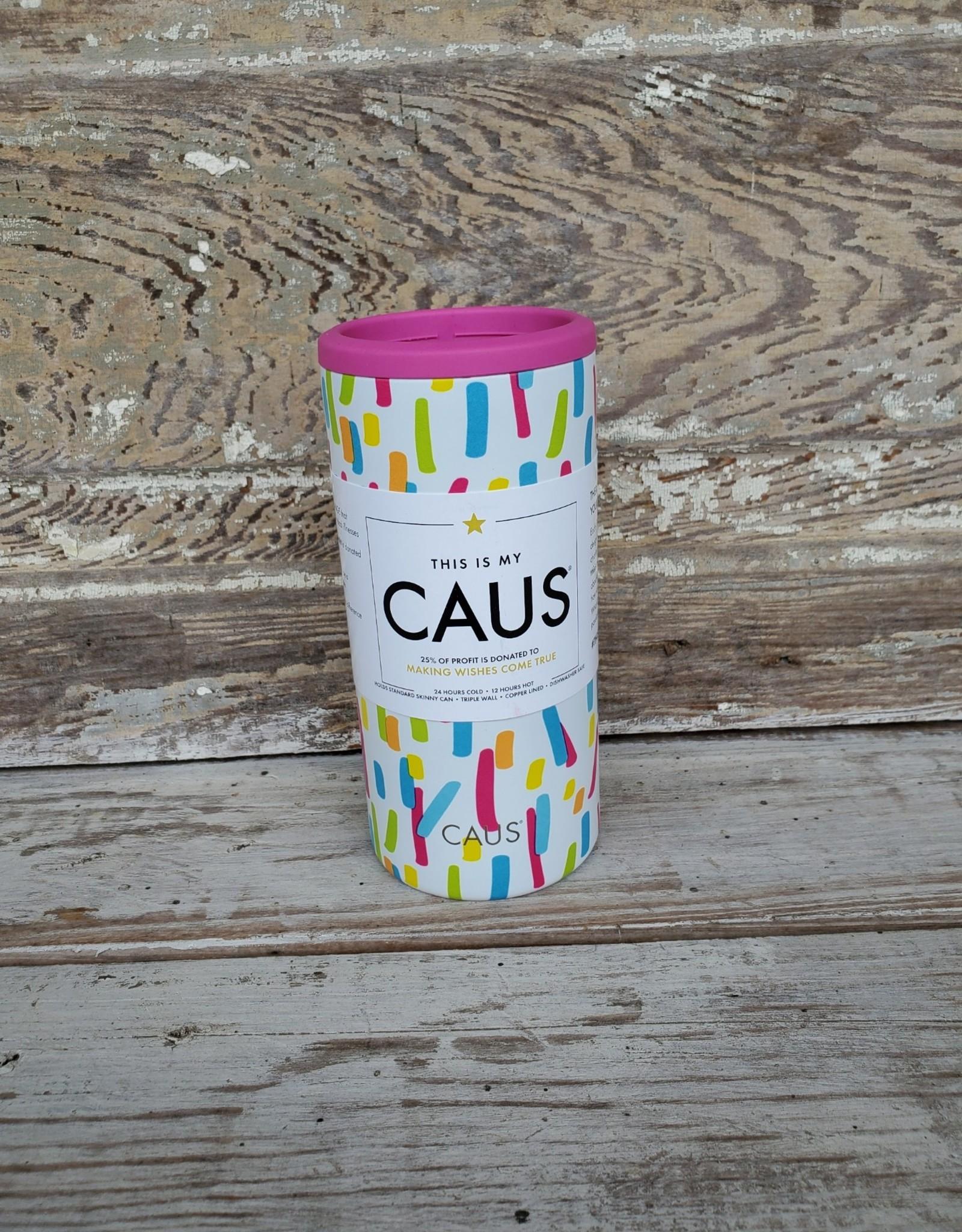 Caus Skinny Can Cooler Paint Splash